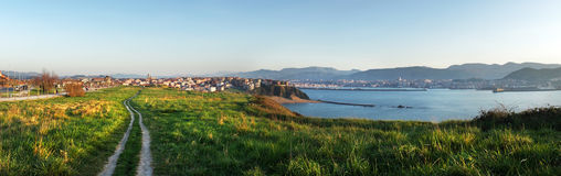 Panorama of Getxo coast Stock Photo