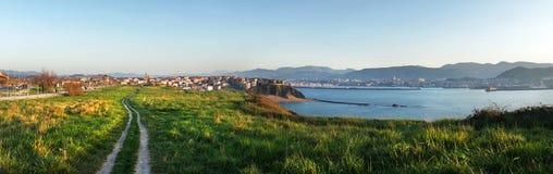 Panorama of Getxo coast Stock Photo