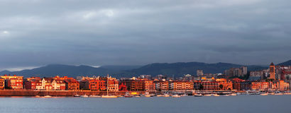 Panorama of Getxo Royalty Free Stock Photos