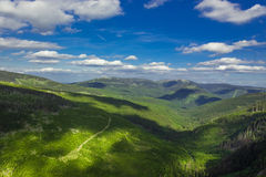 Panorama of Giant mountain. Panorama of Giat mountain from Czechia. Summer photo with peakts Royalty Free Stock Photo