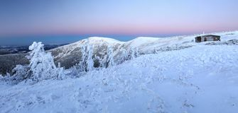 Panorama of Giant mountains Royalty Free Stock Images