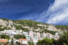Panorama of Gibraltar Royalty Free Stock Photo
