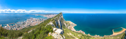 Panorama Gibraltar Rock Royalty Free Stock Image