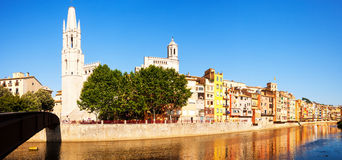 Panorama of Girona. Catalonia, Spain Stock Photos