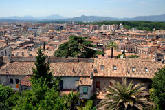 Panorama Girona w Catalonia, Hiszpania Zdjęcie Stock