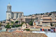 Panorama Girona w Catalonia, Hiszpania Obrazy Royalty Free