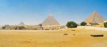 Panorama of Giza complex Stock Photography