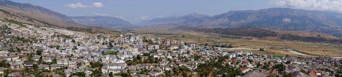 Panorama Gjirokastà 'r w Albania Fotografia Royalty Free