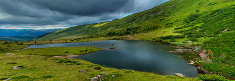 panorama glaciaire de lac Image stock