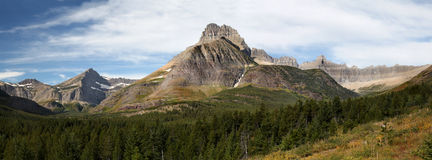 Panorama Glacier National Park, Many Glacier Royalty Free Stock Image
