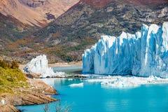 Panorama of glacier Perito Moreno in Patagonia stock images