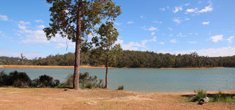 Panorama of Glen Mervyn Dam Royalty Free Stock Photo