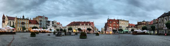 Panorama of Gniezno Royalty Free Stock Photos