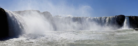 Panorama of Godafoss Waterfall Iceland Royalty Free Stock Photo