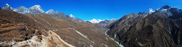 Panorama of Gokyo valley, Nepal Stock Photos