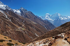 Panorama of Gokyo valley, Nepal Stock Image