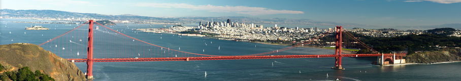 Panorama of Golden Gate Royalty Free Stock Images