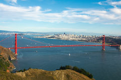 Panorama of Golden Gate Royalty Free Stock Photos