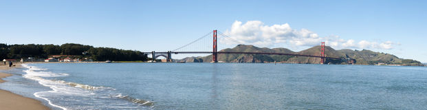 Panorama of Golden Gate Bridge Stock Photo