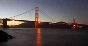 Panorama of the Golden Gate Bridge Royalty Free Stock Photos