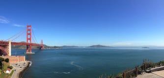 Panorama-Golden gate bridge-Blick heraus Lizenzfreie Stockbilder