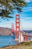 Panorama of the Golden Gate bridge royalty free stock image