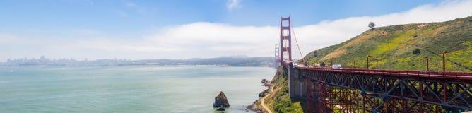 Panorama of Golden Gate Bridge Landmark in San Francisco, USA Royalty Free Stock Image