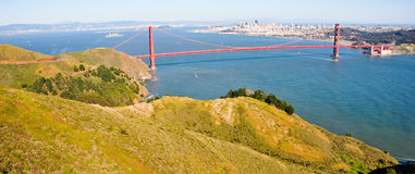 Panorama of golden gate bridge Stock Photography