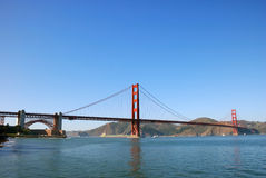 Panorama of Golden Gate Bridge in San Francisco. On a sunny afternoon Royalty Free Stock Image