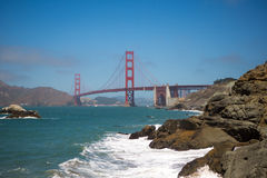 Panorama of the golden gate bridge, San Francisco 2012 Royalty Free Stock Image
