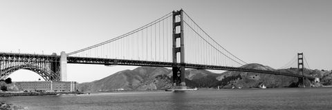 Panorama of Golden Gate Bridge Royalty Free Stock Image