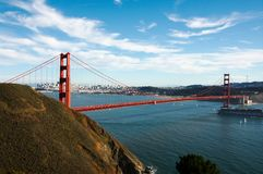 Panorama of Golden Gate royalty free stock photo