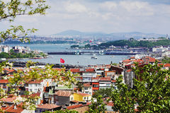 Panorama of Golden Horn Gulf and the Bosphorus Stock Photo