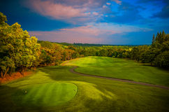Panorama Golf and CC. Royalty Free Stock Photos