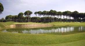 Panorama of golf club Royalty Free Stock Images