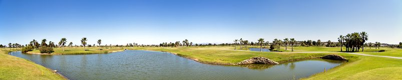 Panorama Golf course in the Algarve Portugal Stock Photos