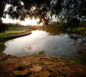 Panorama Golf and lake Stock Image