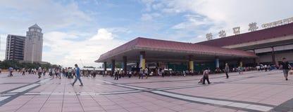 Panorama Gongbei-Hafen, Zhuhai, China stockbilder