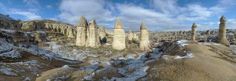 Panorama of Gorcelid Valley in Cappadocia, Turkey Stock Image