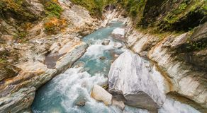 Panorama of the gorge in Taroko National Park Stock Photography
