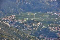 Panorama of the gorgeous Lake Garda Stock Photography