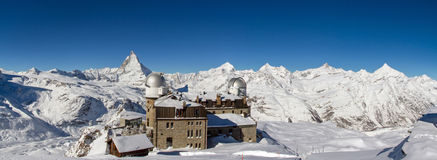 Panorama from Gornergrat Royalty Free Stock Image