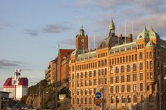 Panorama of Gothenburg. Gothenburg, Vasstergotland and Bohuslan, Sweden royalty free stock image