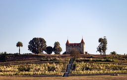 Panorama gothique de manoir photos stock