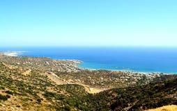 Panorama Grèce, île Crète de bâti Image stock