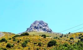 Panorama Grèce, île Crète de bâti Photo stock