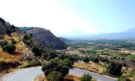 Panorama Grèce, île Crète de bâti Photos stock