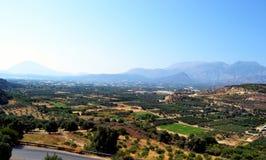 Panorama Grèce, île Crète de bâti Images libres de droits