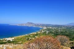 Panorama Grèce, île Crète de bâti Photographie stock libre de droits
