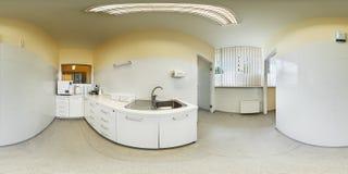 Panorama 360 graad binnen tandkliniek Royalty-vrije Stock Foto's